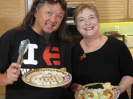 Wing Lam of Wahoo's Fish Tacos with Cathy Thomas